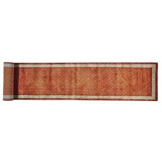 Tabriz Mahi Wool and Silk XL Runner Hand-knotted Rug (2'7 x 16'8)
