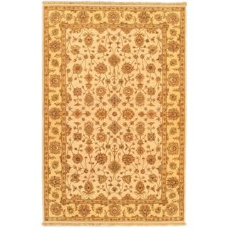 ecarpetgallery Chobi Twisted Beige/ Yellow Wool Rug (6'0 x 9'5)