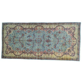 Antique Persian Kerman Gallery Size Handmade Rug (9'9 x 20'9)