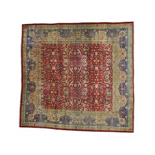 Antique Persian Kerman Exc Cond Square Hand-knotted Rug (9'10 x 10'1)