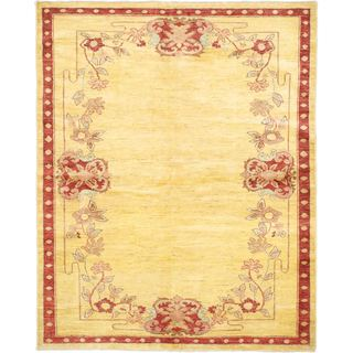 ecarpetgallery Chobi Finest Yellow Wool Rug (6'0 x 7'6)