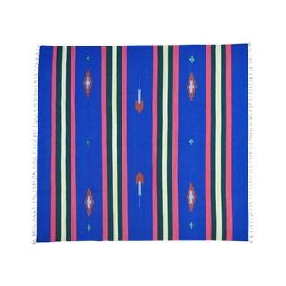 Hand-woven Design Flat Weave Killim Squarish Rug (8' x 8'6)