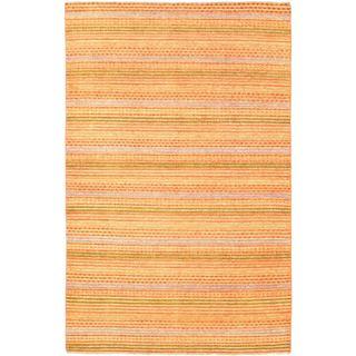 ecarpetgallery Finest Ziegler Chobi Orange Wool Rug (5'3 x 8'3)