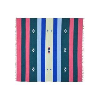 Southwest Design Hand-woven Killim Flat Weave Square Rug (7'10 x 8'2)