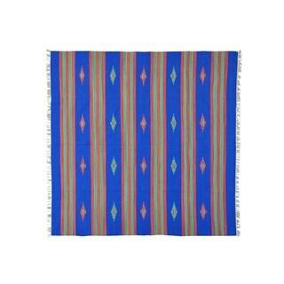 Hand-woven Killim Flat Weave Design Square Rug (8'1 x 8'2)