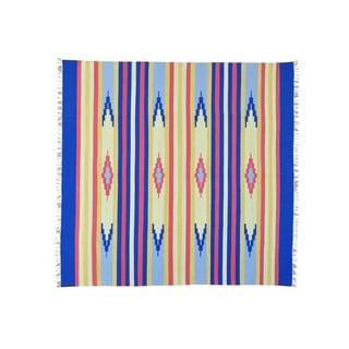 Flat Weave Hand-woven Design Square Killim Rug (8' x 8'4)