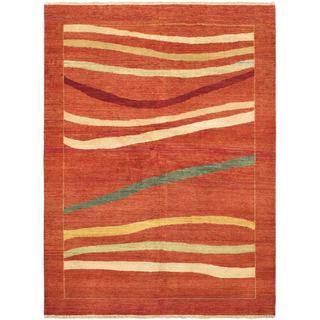 ecarpetgallery Finest Ziegler Chobi Orange Wool Rug (5'10 x 7'9)