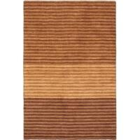 ecarpetgallery Luribaft Gabbeh Riz Brown Wool Rug - 4'0 x 6'0