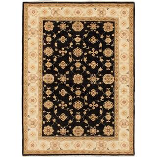ecarpetgallery Peshawar Oushak Black Wool Rug (5'0 x 6'8)