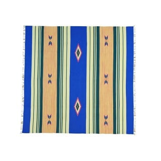 Flat Weave Square Hand-woven Killim Design Rug (8' x 8')