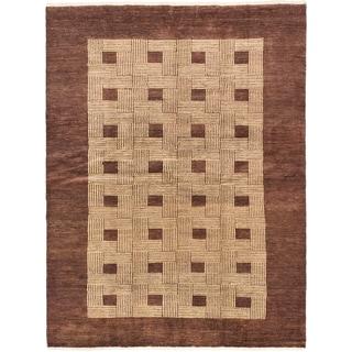 ecarpetgallery Finest Ziegler Chobi Beige/ Brown Wool Rug (4'11 x 6'6)