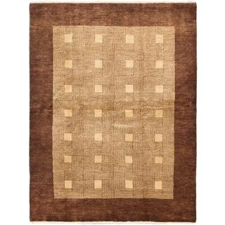 ecarpetgallery Finest Ziegler Chobi Brown/ Yellow Wool Rug (5'2 x 6'10)