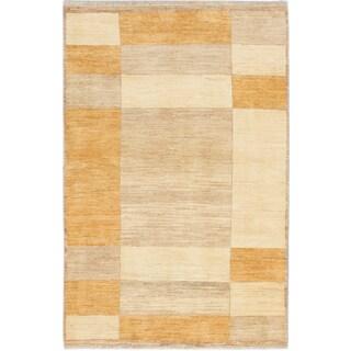 ecarpetgallery Peshawar Ziegler Beige Wool Rug (4'0 x 6'3)