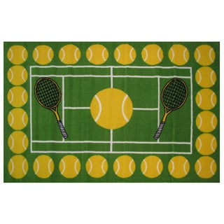 "Tennis Time Area Rug 39"" x 58"""