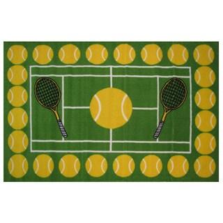 "Tennis Time Area Rug 39"" x 58"""