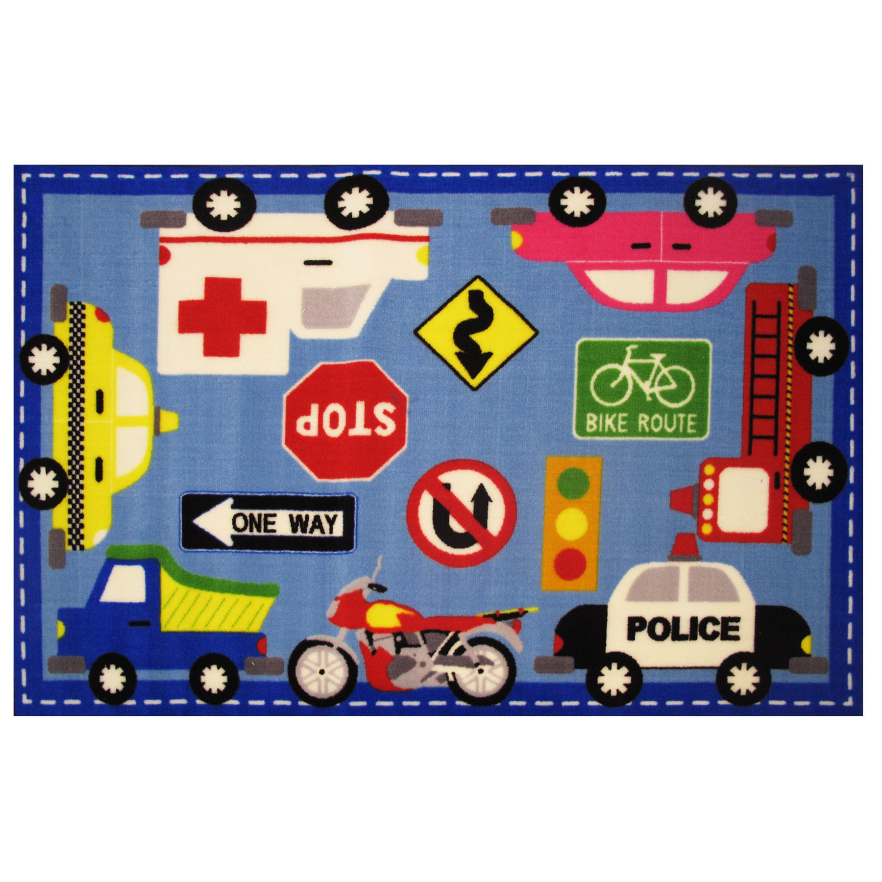 """LA RUG Downtown Traffic Area Rug 39"""" x 58"""" (39 inches by ..."""