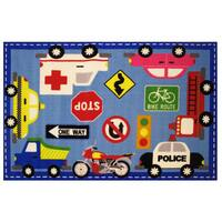 Downtown Traffic Area Rug