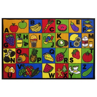 "ABC Food Area Rug 51"" x 78"""