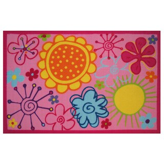 "Fancy Floral Area Rug 39"" x 58"""