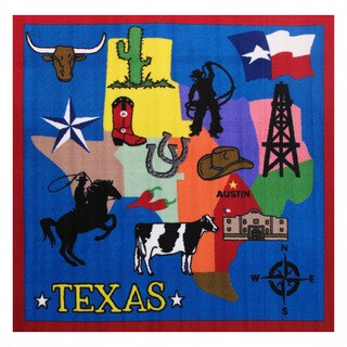 Texas Area Rug (4'3 x 4'3)