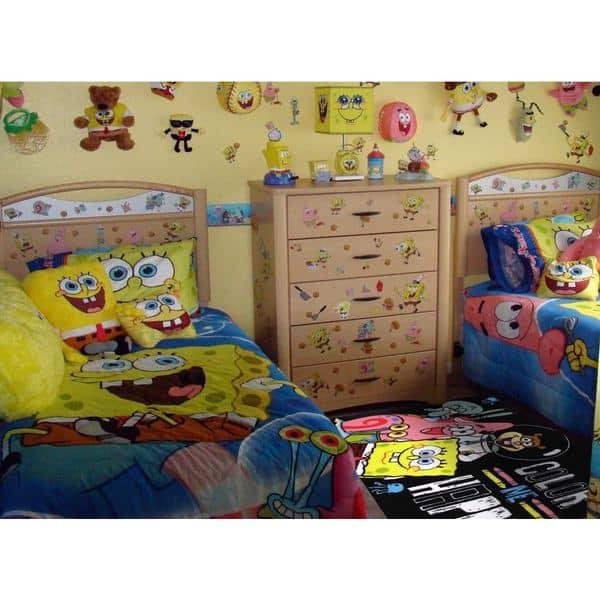 SpongeBob and Patrick \'Color Me Happy/ Area Rug - 4\'3\