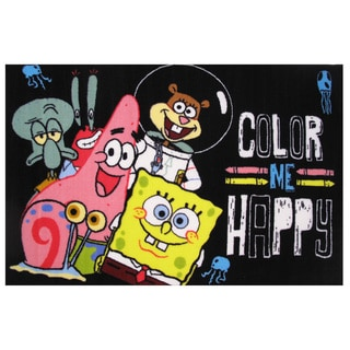 "SpongeBob and Patrick 'Color Me Happy/ Area Rug 51"" x 78"""