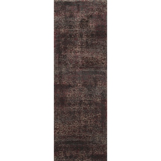 Hastings Charcoal/ Red Runner Rug (2'5 x 7'7)