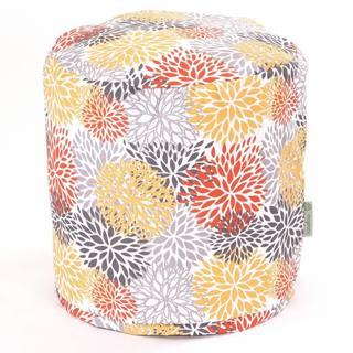 Majestic Home Goods Blooms Pouf Outdoor Indoor