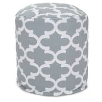 "Majestic Home Goods Trellis Indoor / Outdoor Ottoman Pouf 16"" L x 16"" W x 17"" H"