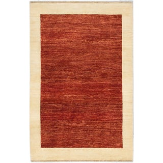 ecarpetgallery Peshawar Ziegler Orange Wool Rug (4'0 x 6'2)