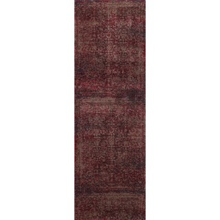 Hastings Red/ Taupe Runner Rug (2'5 x 7'7)