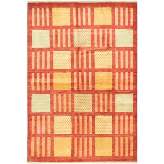 ecarpetgallery Peshawar Ziegler Red Wool Rug (5'8 x 8'5)