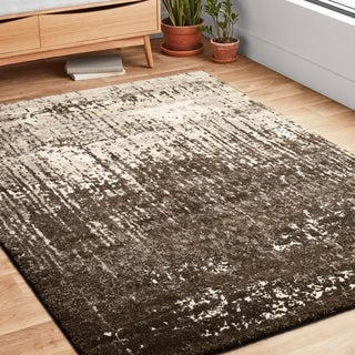 Hastings Ivory/ Brown Runner Rug (2'5 x 7'7)