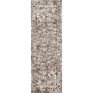 Hastings Mocha/ Ivory Runner Rug (2'5 x 7'7)