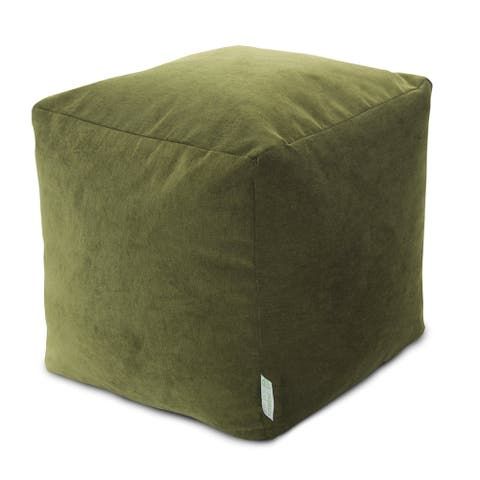 Majestic Home Goods Villa Collection Indoor Ottoman Pouf Cube