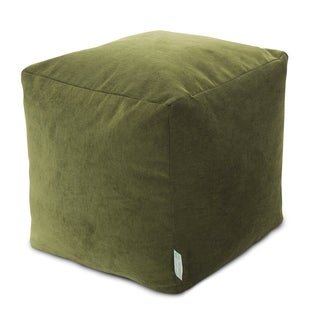 Link to Majestic Home Goods Villa Collection Indoor Ottoman Pouf Cube Similar Items in Ottomans & Storage Ottomans