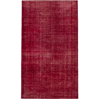 ecarpetgallery Color Transition Red Wool Rug (4'0 x 6'11)