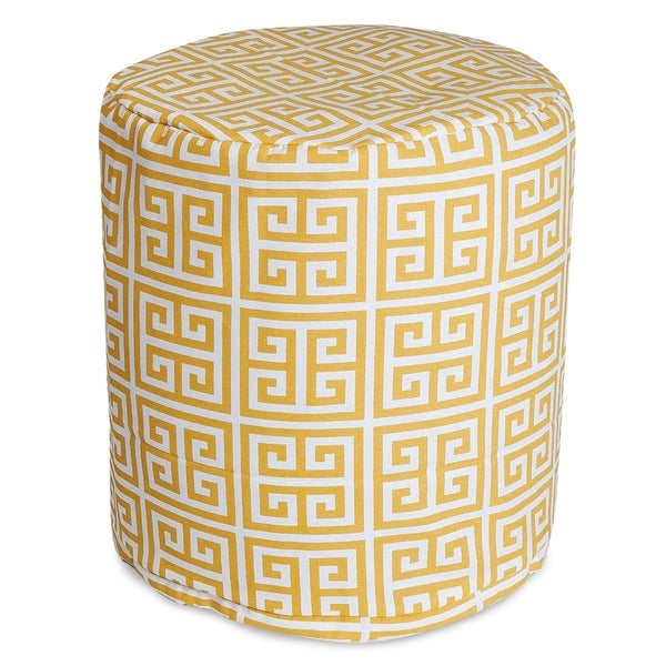 """Majestic Home Goods Towers Indoor / Outdoor Ottoman Pouf 16"""" L x 16"""" W x 17"""" H"""