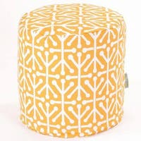 "Majestic Home Goods Aruba Indoor / Outdoor Ottoman Pouf 16"" L x 16"" W x 17"" H"
