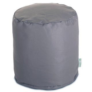 Gray Solid Pouf Outdoor Indoor by Majestic Home Goods