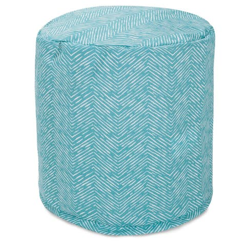 """Majestic Home Goods South West Indoor / Outdoor Ottoman Pouf 16"""" L x 16"""" W x 17"""" H"""