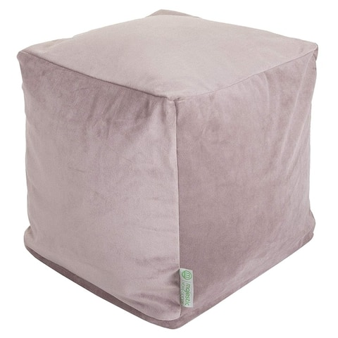 Majestic Home Goods Velvet Indoor / Outdoor Ottoman Pouf Cube