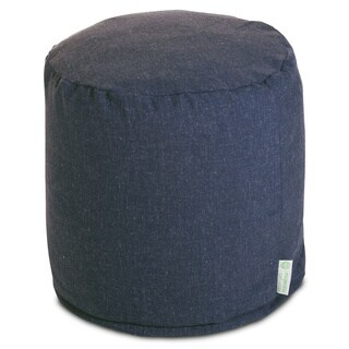 """Majestic Home Goods Wales Collection Indoor Ottoman Pouf 16"""" L x 16"""" W x 17"""" H"""