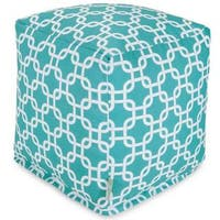 Majestic Home Goods Teal Links Indoor / Outdoor Ottoman Pouf Cube