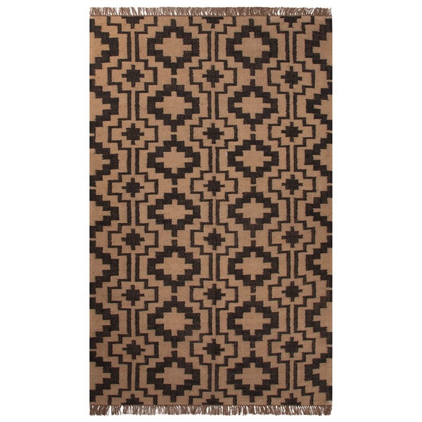 Handmade Tribal Black Area Rug (5' X 8')