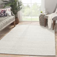 Handmade Solid White Area Rug (5' X 8') - 5' x 8'