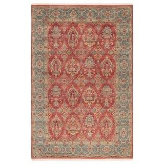 Classic Oriental Pattern Orange/Blue Wool Area Rug (8x10)