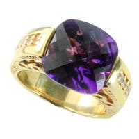 One-of-a-kind Dallas Prince Sterling Silver African Amethyst Tension Ring