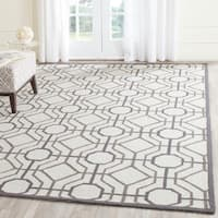 Safavieh Hand-Hooked Four Seasons Ivory / Black Polyester Rug - 8' x 10'