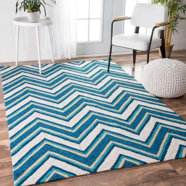 Chevron Stripe Rug: NuLOOM Handmade Modern Indoor/ Outdoor Striped Chevron